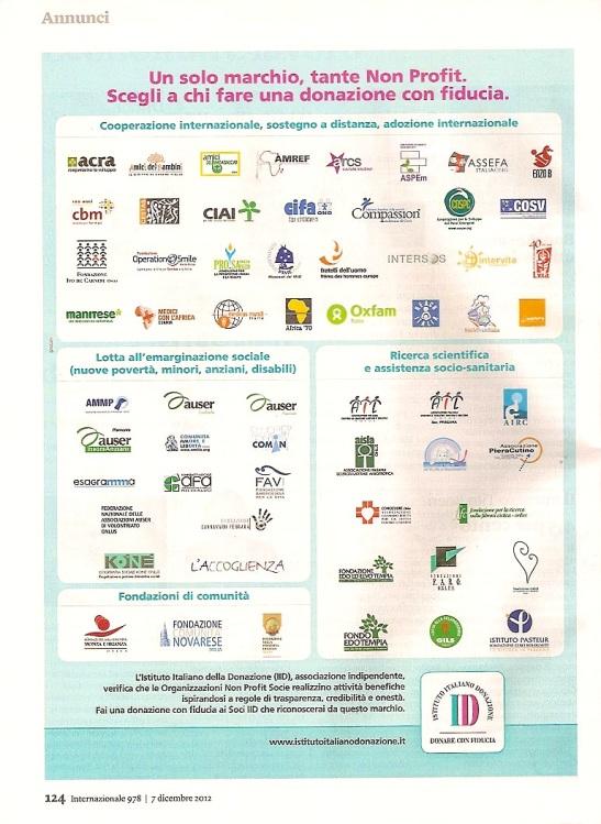 Istituto Italiano Donazione 2012
