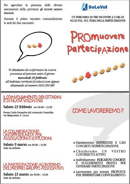 Promuovere partecipazione