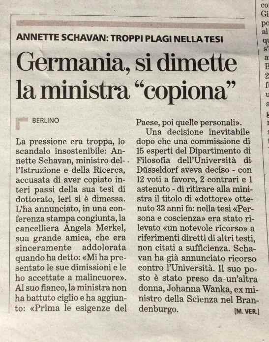 La Stampa, 10 febbraio 2013