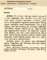 Etimologia errare