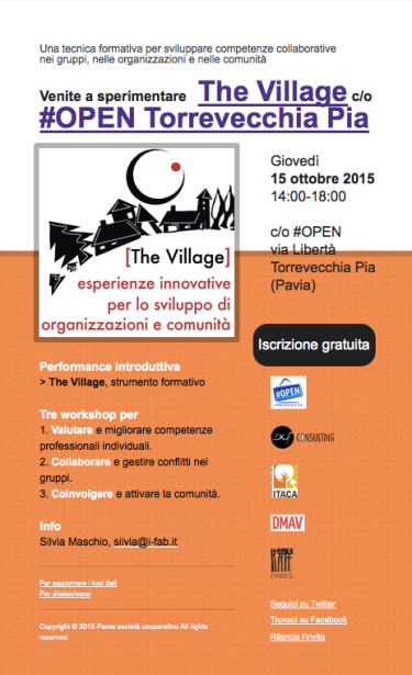 Venite a sperimentare The Village a #OPENTvP