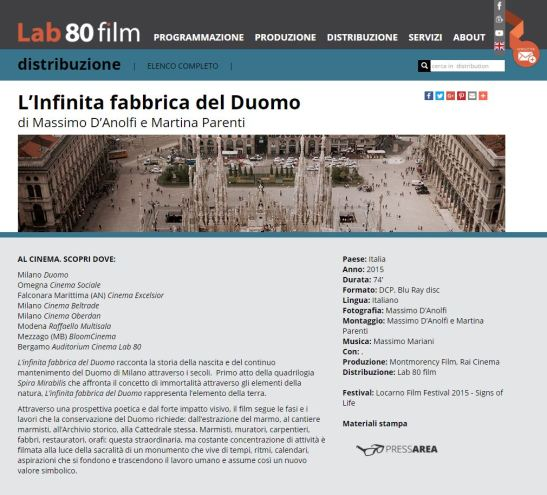 Infinita Fabbrica del Duomo 2